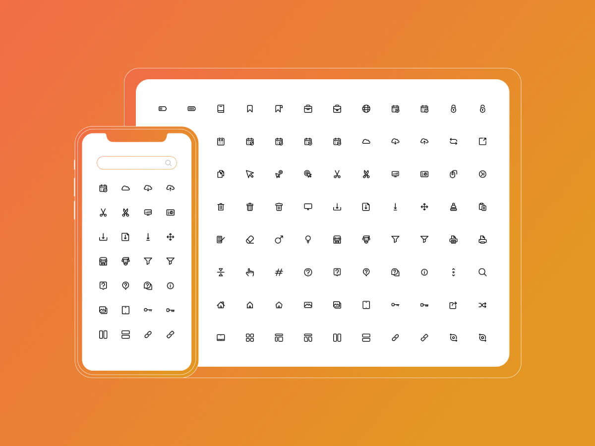 200 UI Essentials Icon Set for Adobe XD