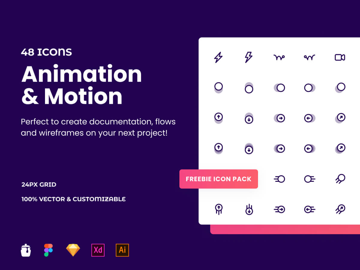 Animation & Motion Icon Pack for Adobe XD
