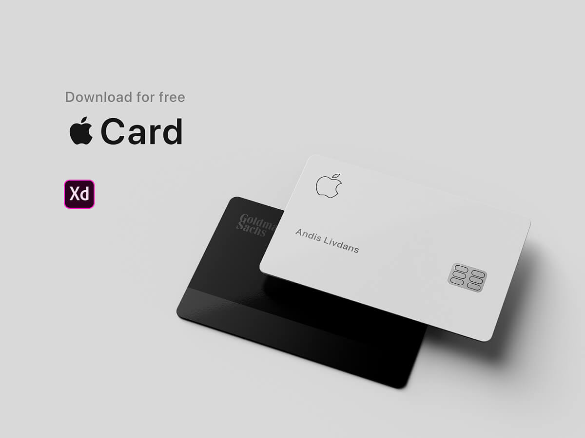 Apple Card for Adobe XD