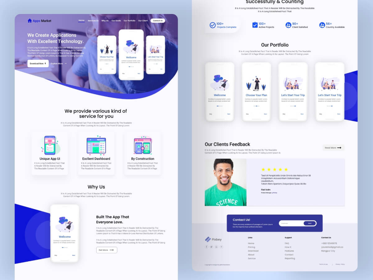 Apps Creator Landing Page