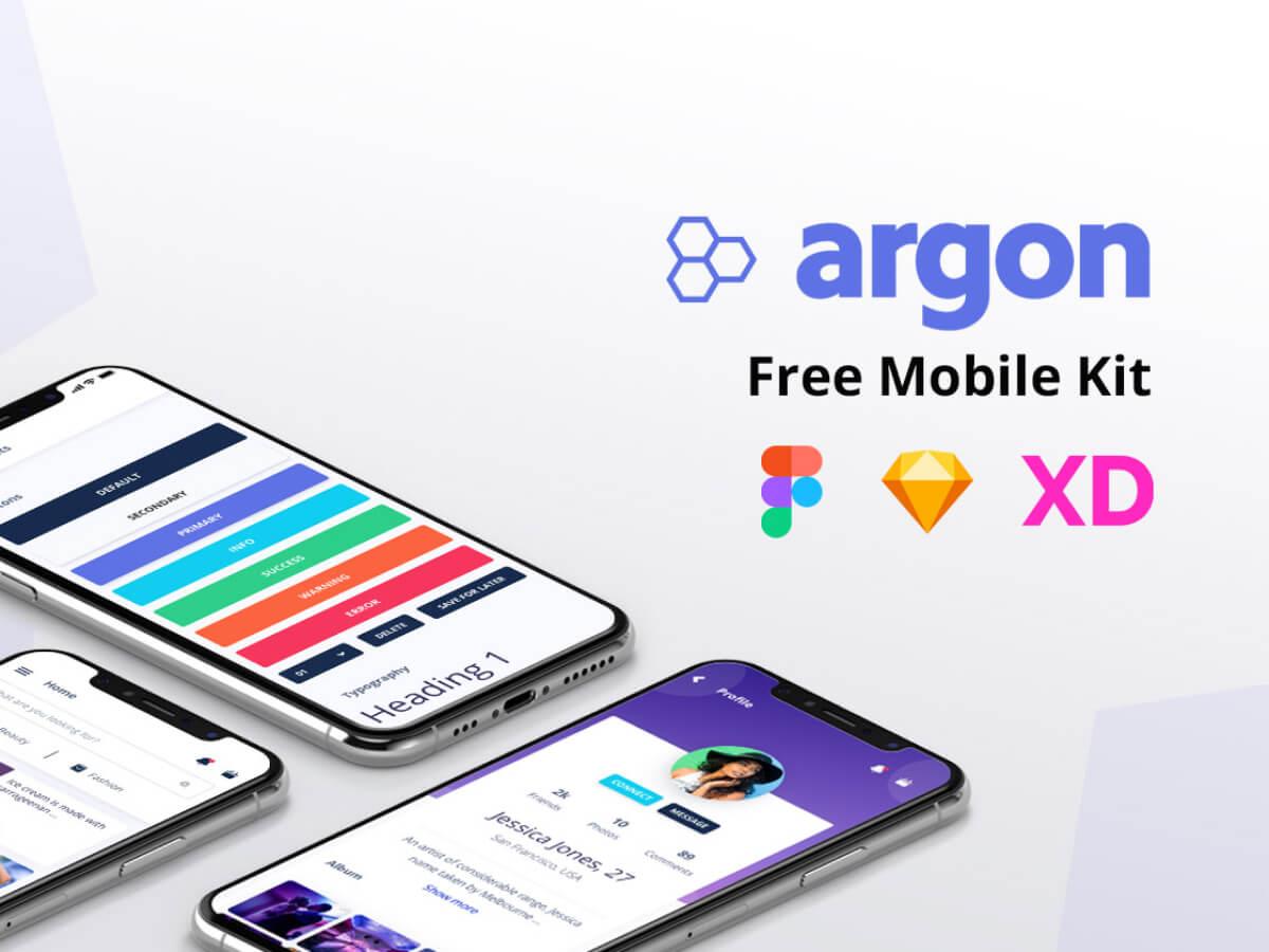 Argon Mobile Adobe XD UI Kit