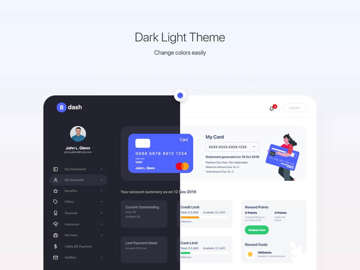 Bank Dashboard Adobe XD UI Kit