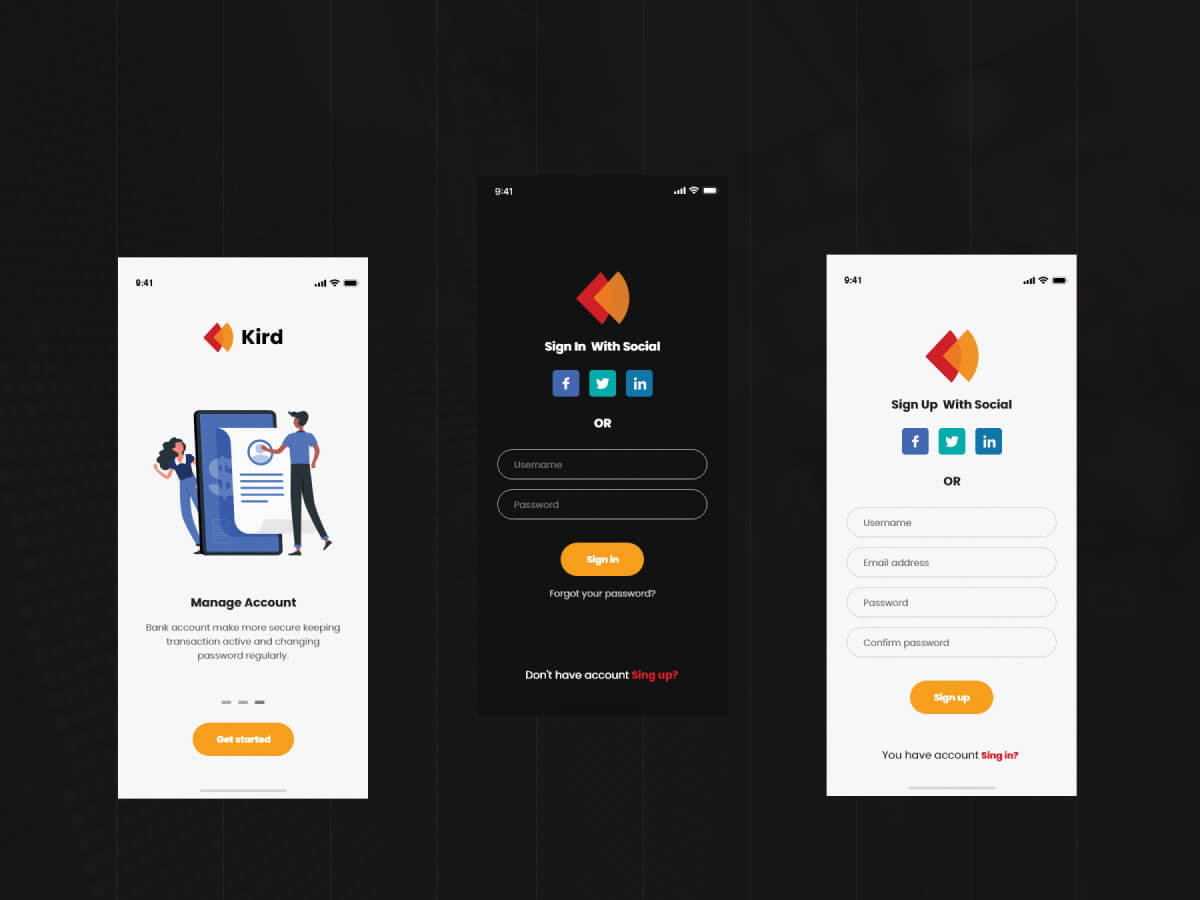 Banking App Template for Adobe XD