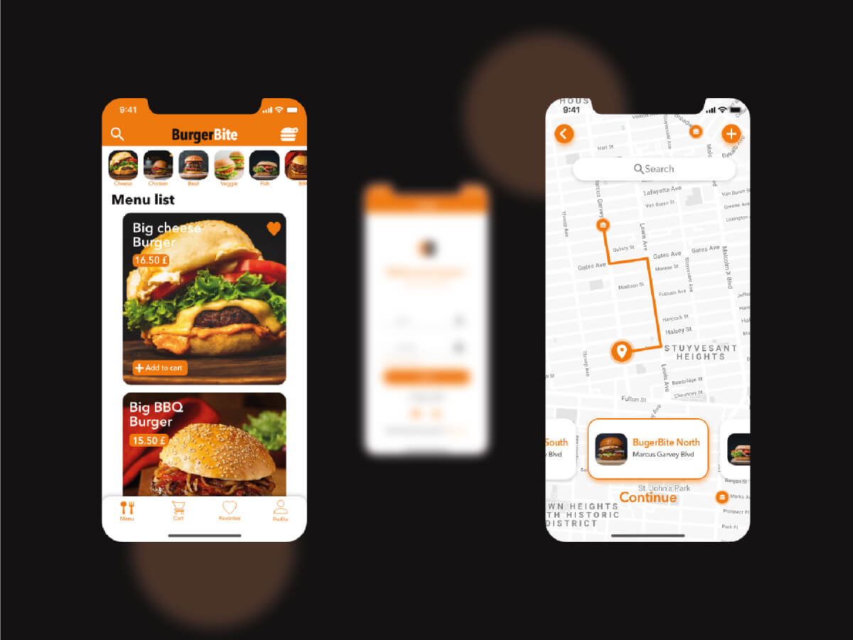 Burger Delivery App for Adobe XD