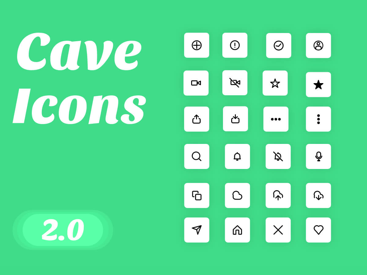 Cave Icons 2.0 for Adobe XD