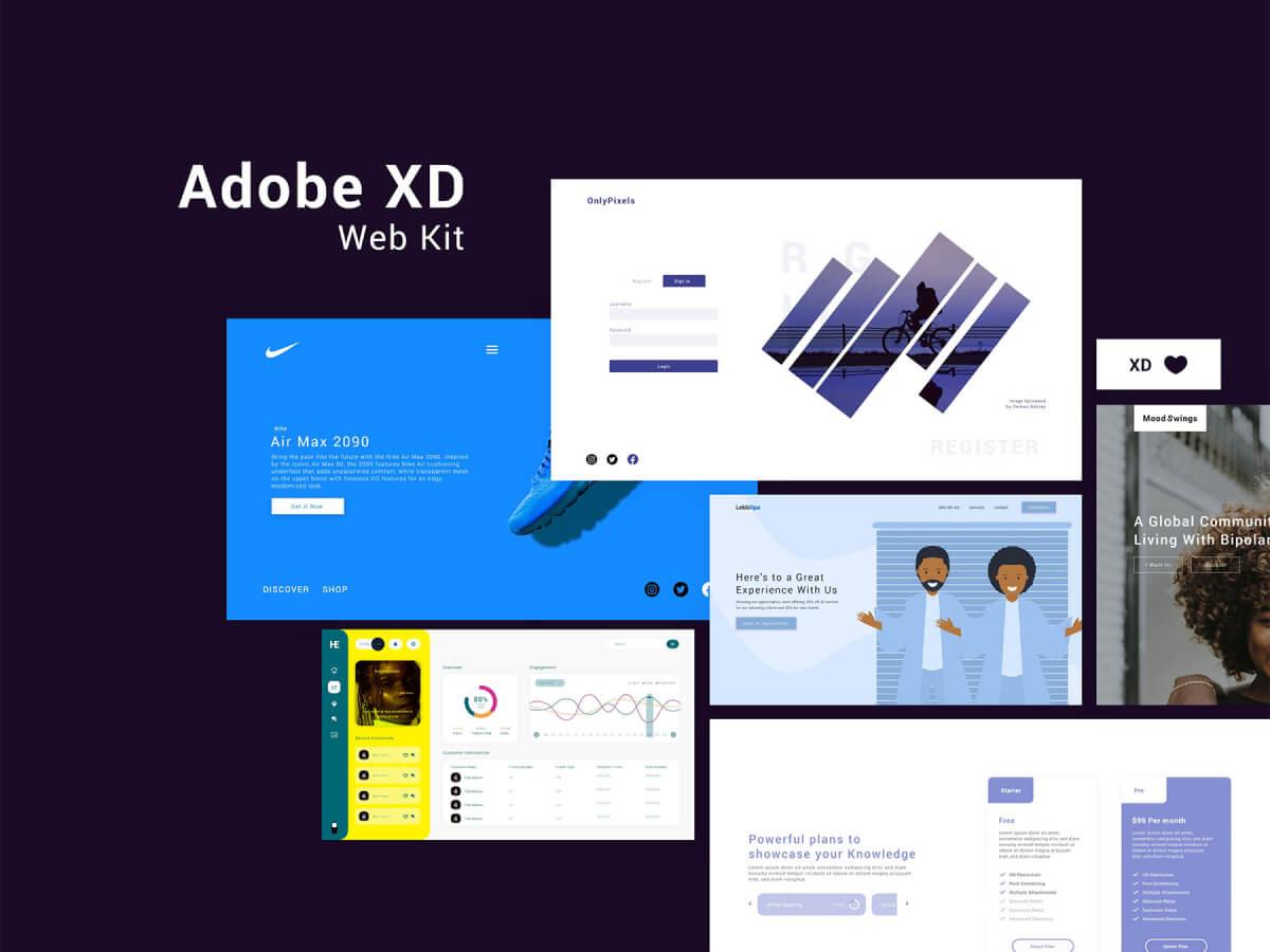 Complete Web Adobe XD UI Kit