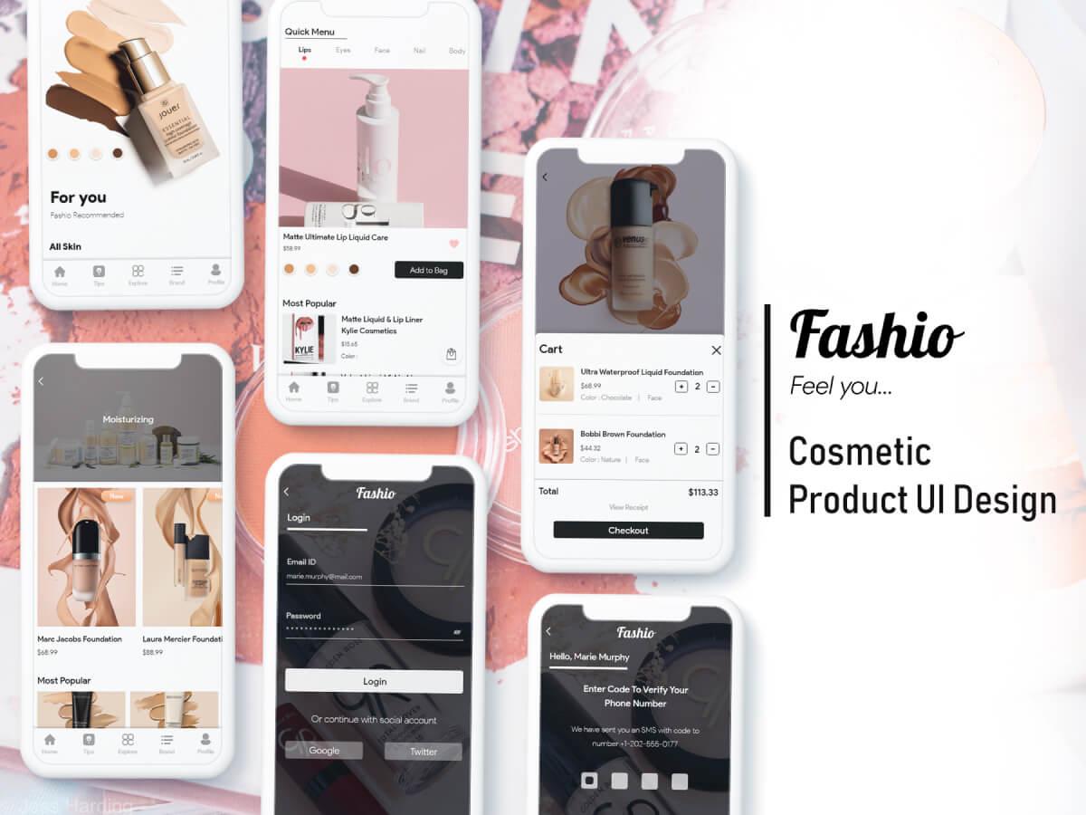 Cosmetic Store App Adobe XD UI Kit