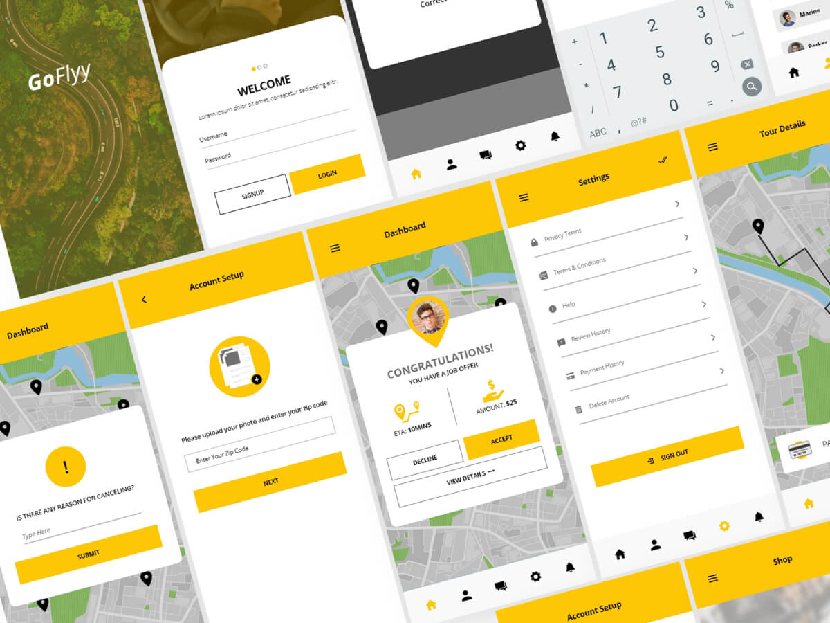 Courier Service App Adobe XD UI Kit