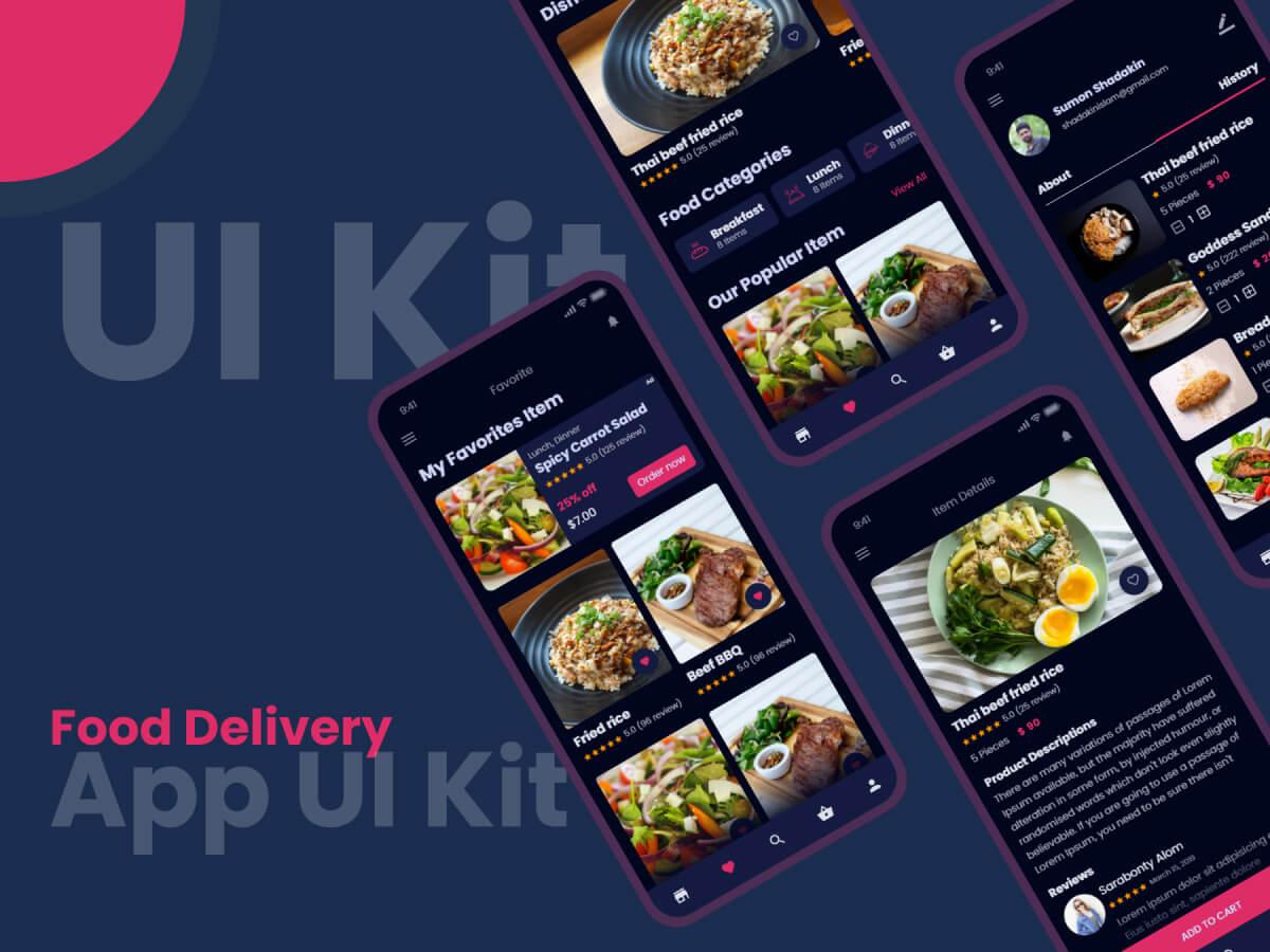 Food Delivery iOS App UI Kit