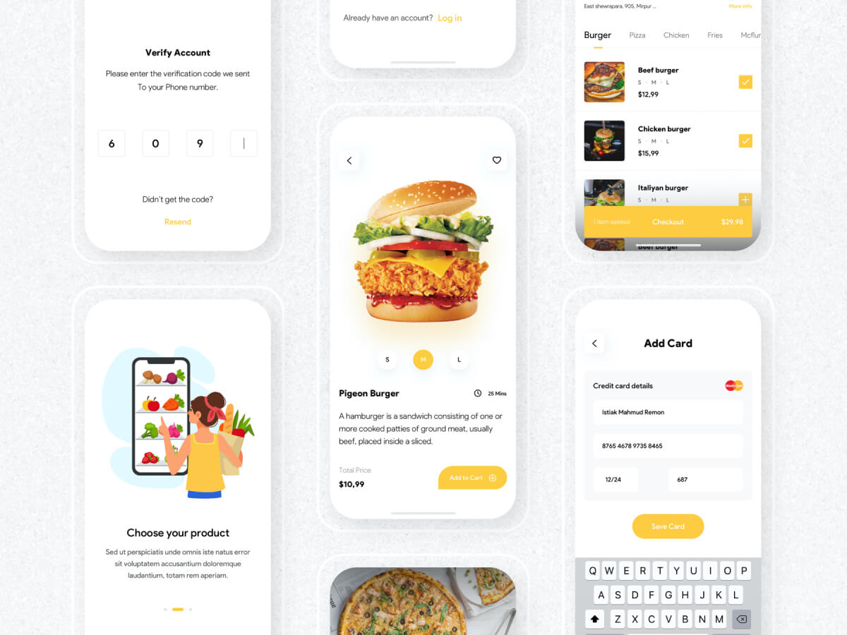 Food Delivery App for Adobe XD