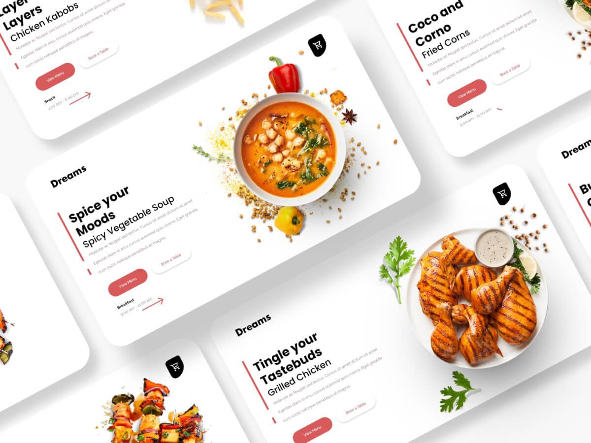Food Store Web Adobe XD UI Kit
