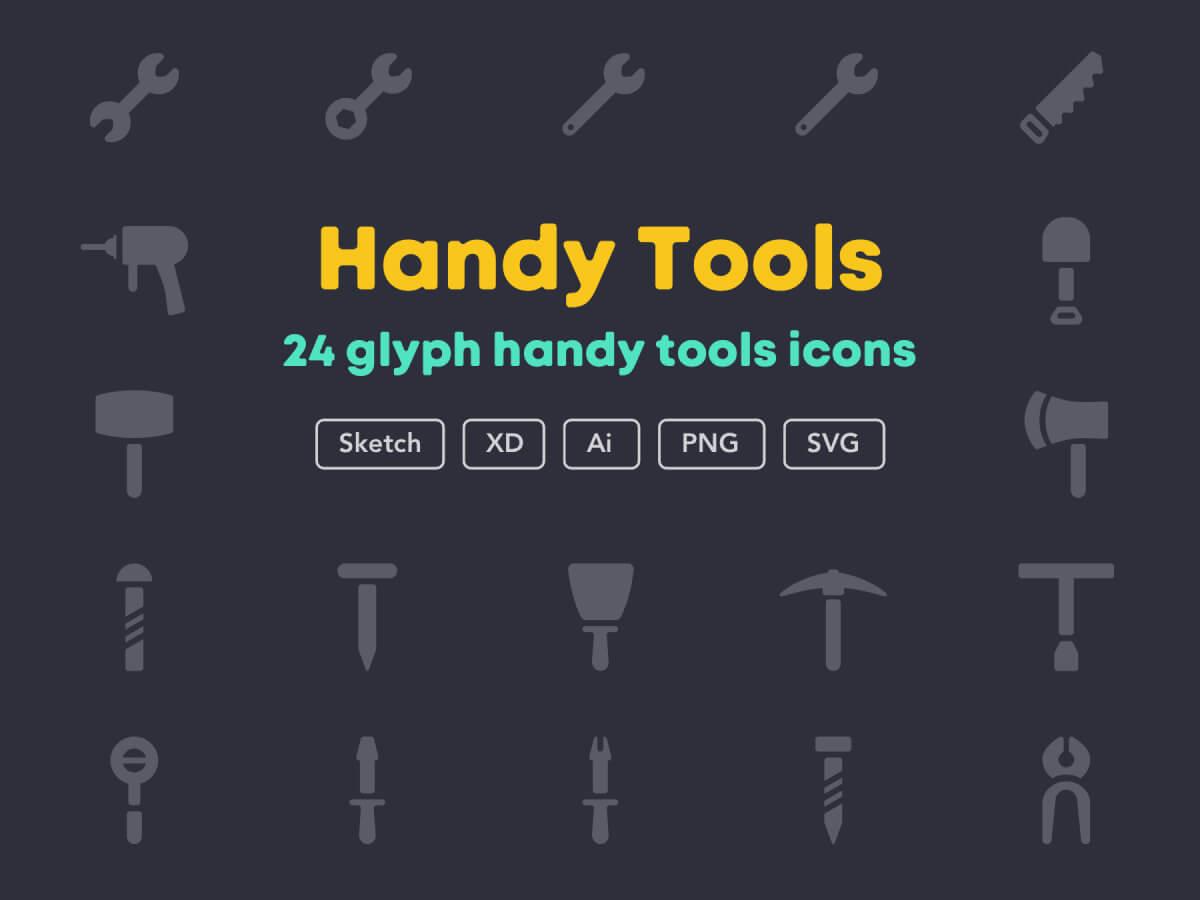 Handy Tools Icon Set for Adobe XD