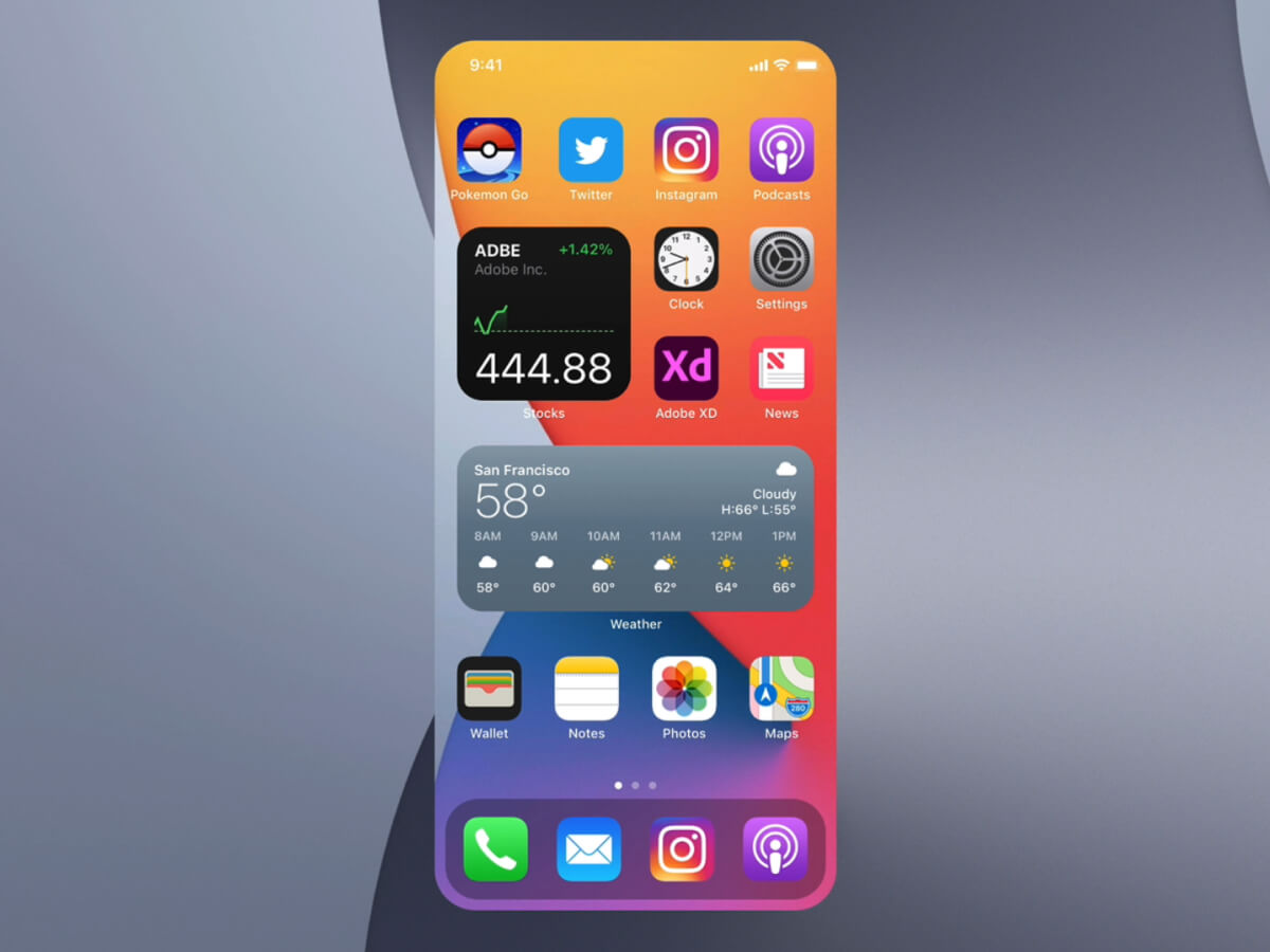 iOS Stackable Widgets