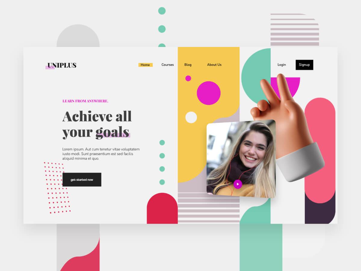 Learning Platform Homepage