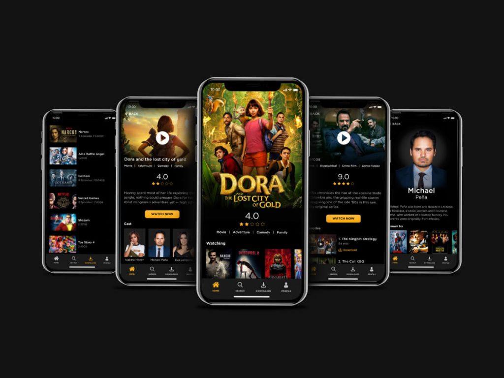 Movie & TV Shows Adobe XD UI Kit