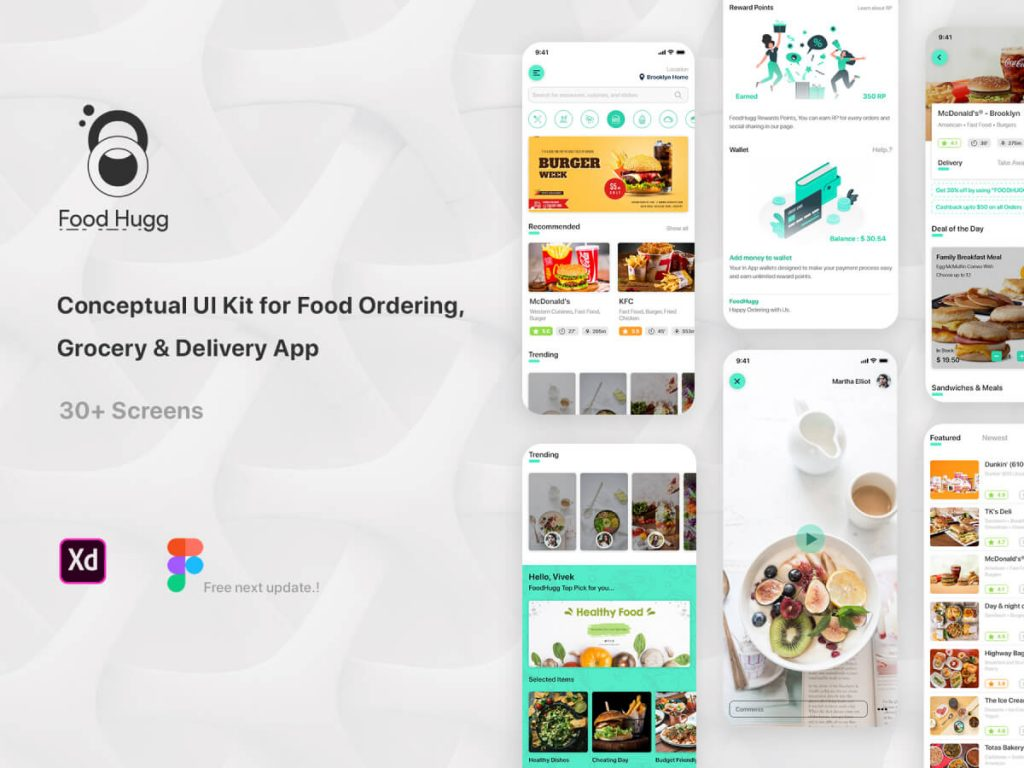Multi Delivery Service iOS UI Kit