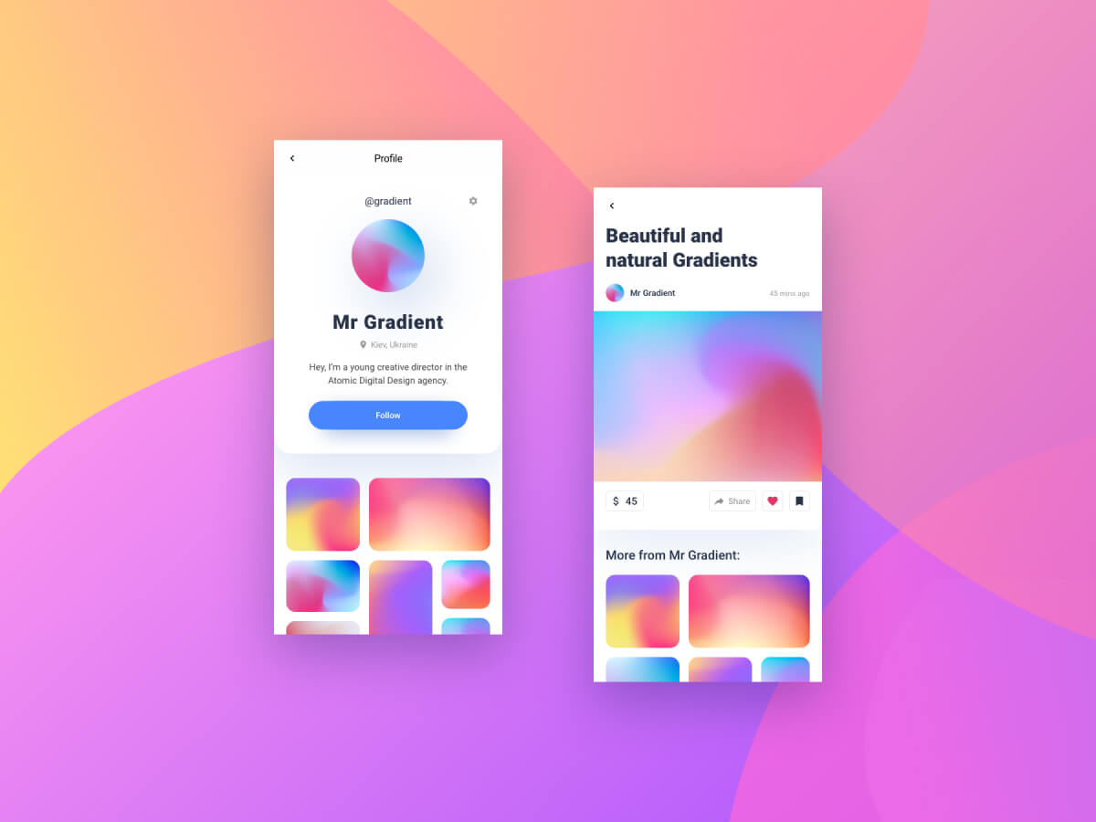 Natural Gradients for Adobe XD