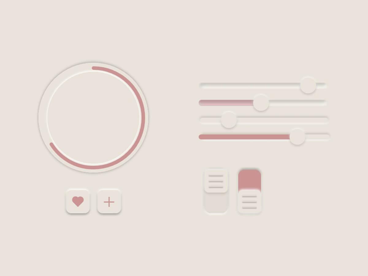 Adobe XD Neumorphism Buttons