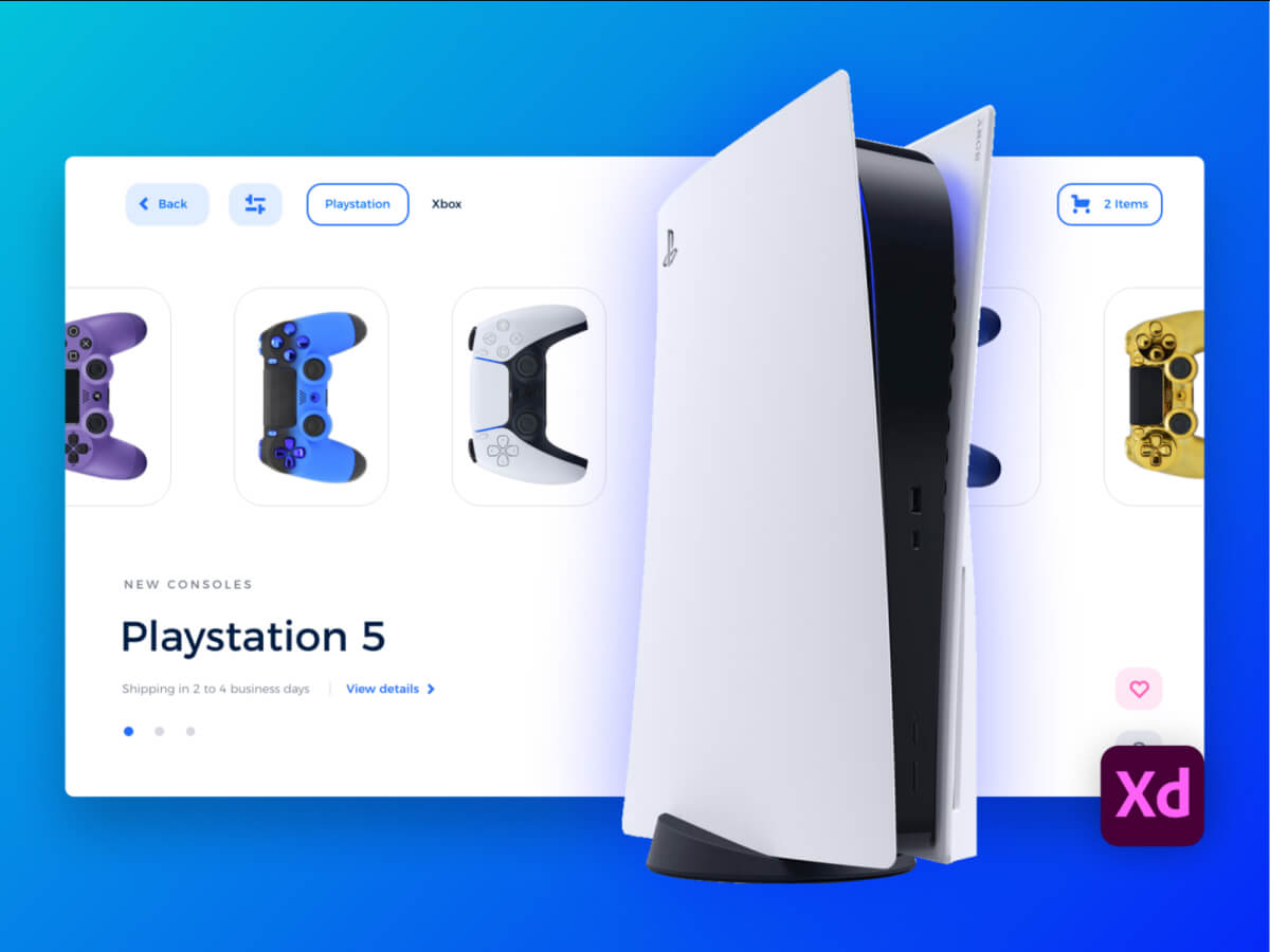 PlayStation 5 Landing Page