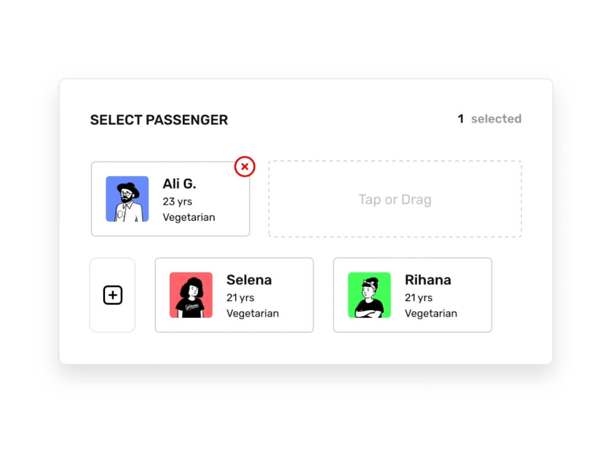 Passenger Selection Interaction
