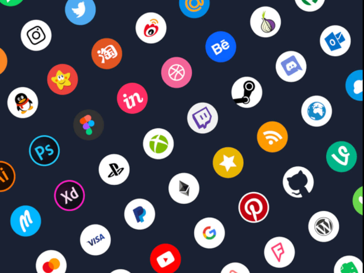 Social Icons Pack for Adobe XD