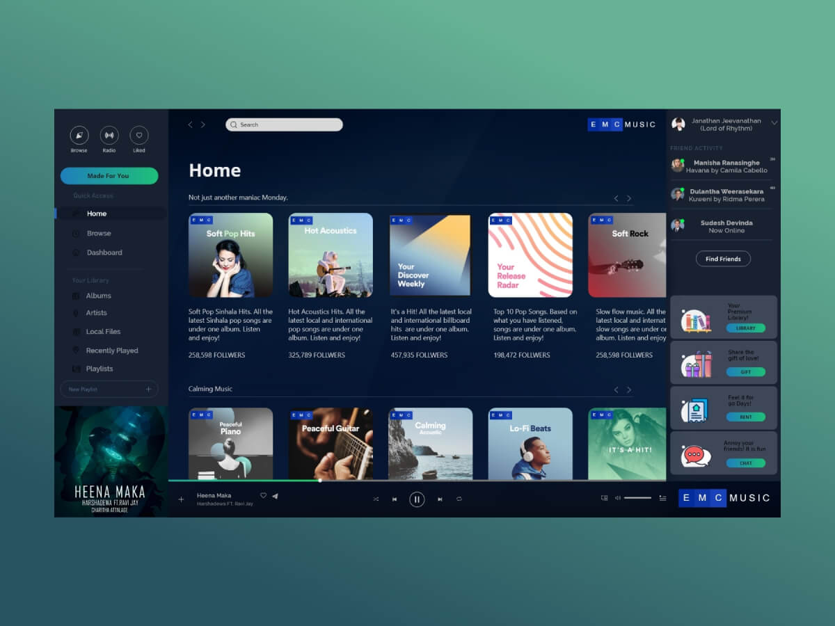 Spotify Concept UI Kit for Adobe XD