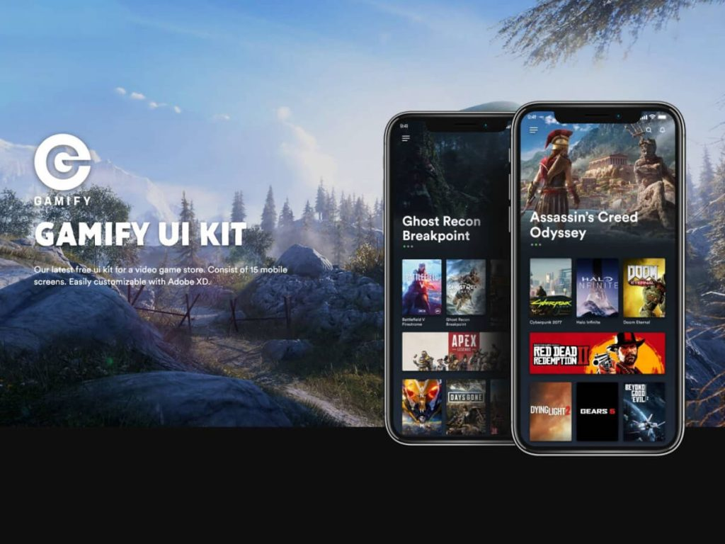 Steam Concept Mobile Adobe XD UI Kit