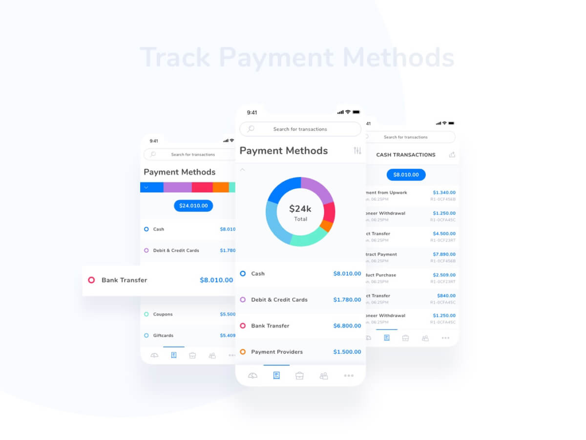 Payments Tracking Adobe XD UI Kit