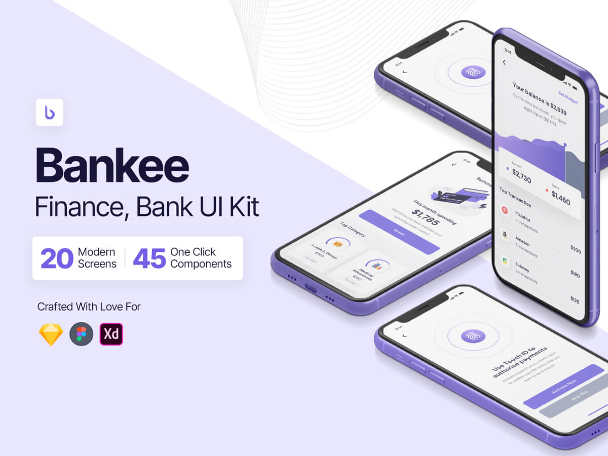 Finance & Wallet Adobe XD UI Kit