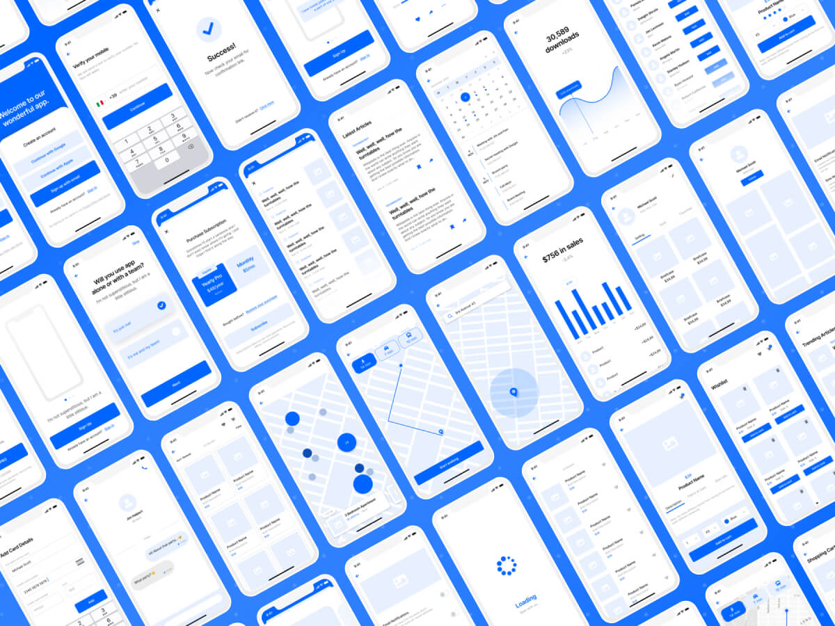 Wireframe Kit for iOS Apps