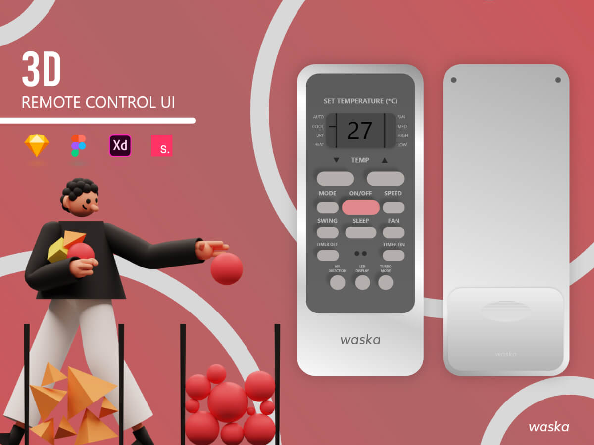 Remote Control Adobe XD UI