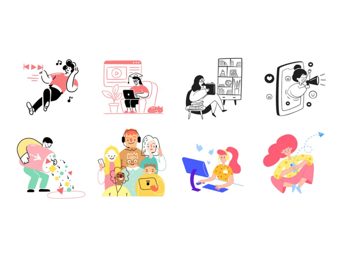80 Streamline Illustrations