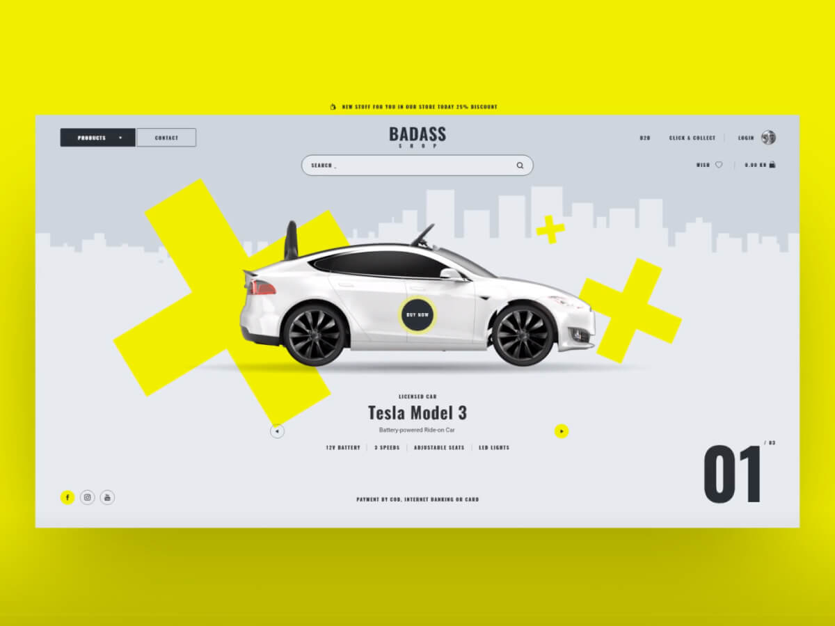 Car Shop Web Adobe XD UI Kit