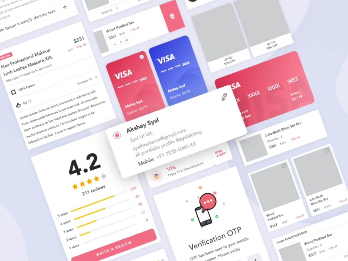 Care Me Fintech App for Adobe XD