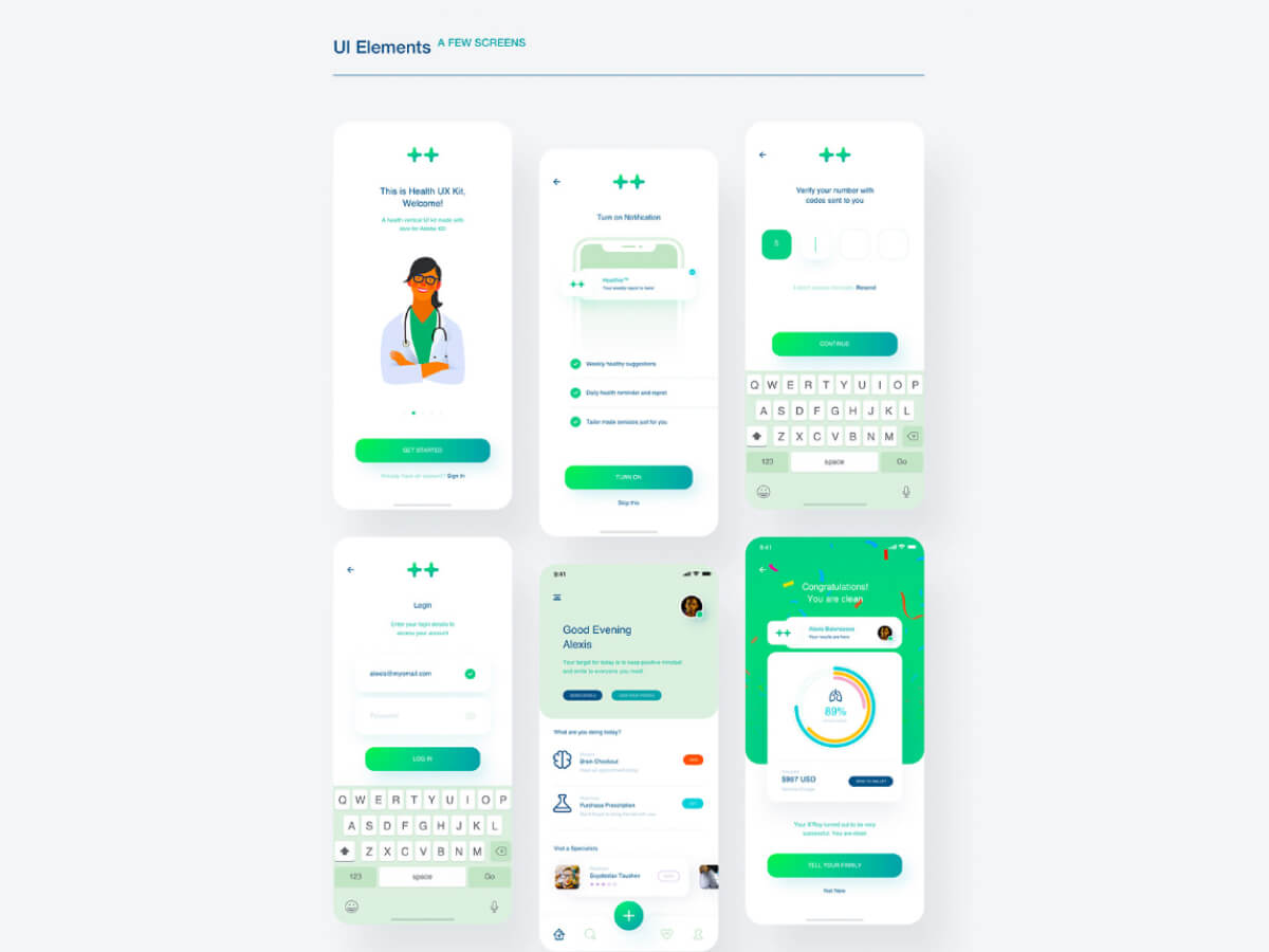Health Medical App for Adobe XD