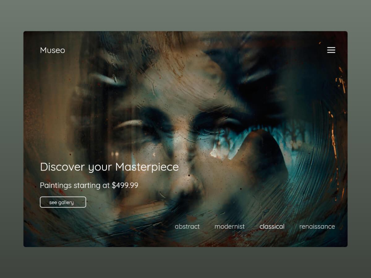 Museum Web Adobe XD UI Kit