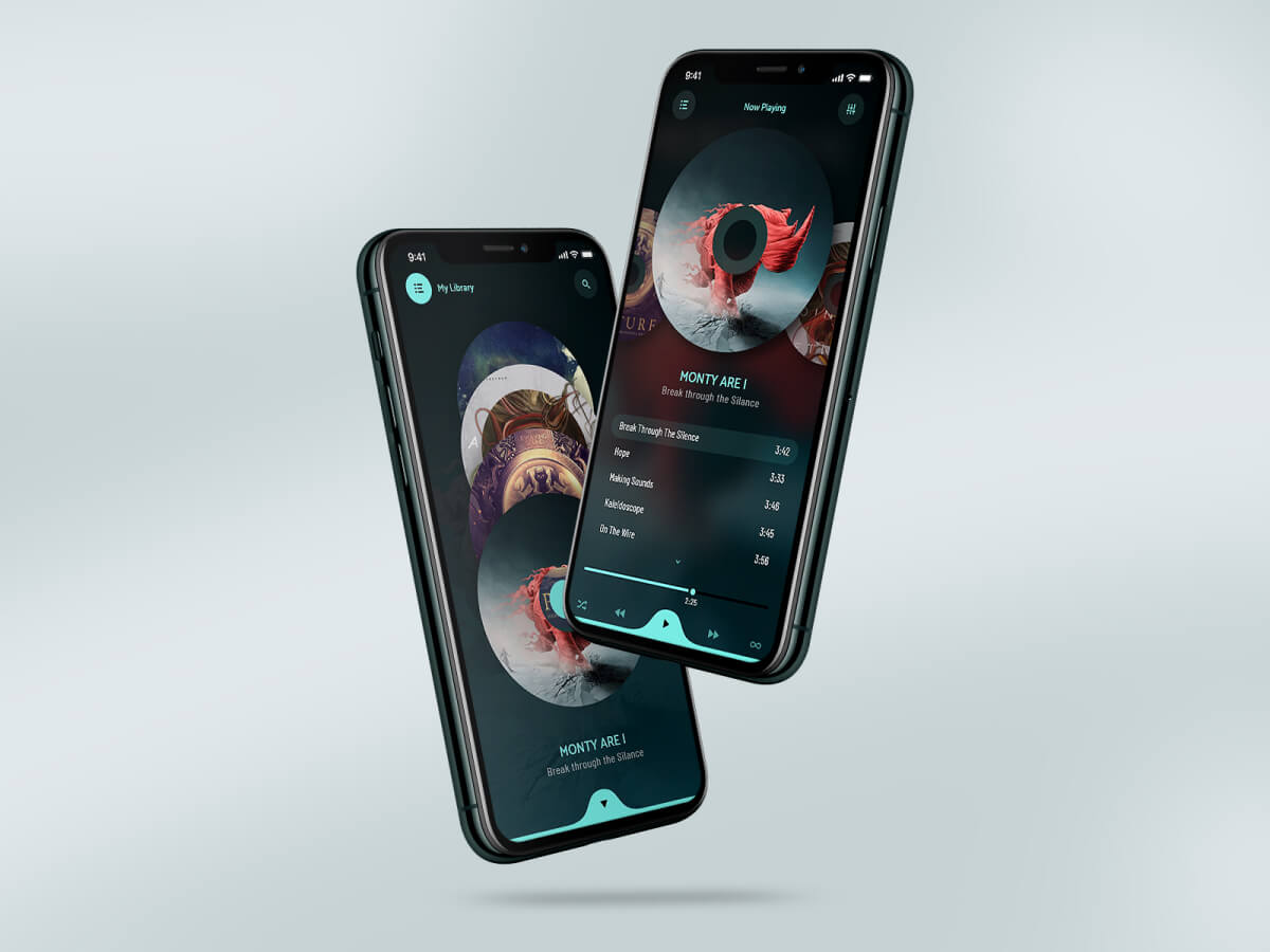 Music App Concept Adobe XD UI Kit