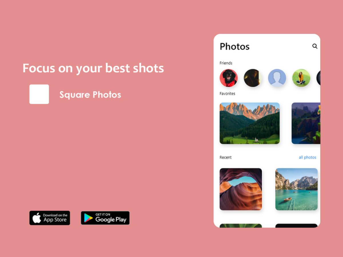 Photos Shots App for Adobe XD