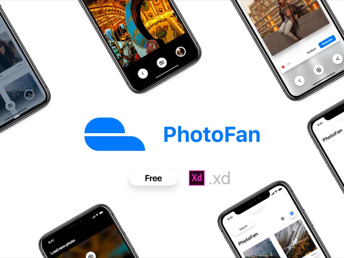 Photostock App for Adobe XD