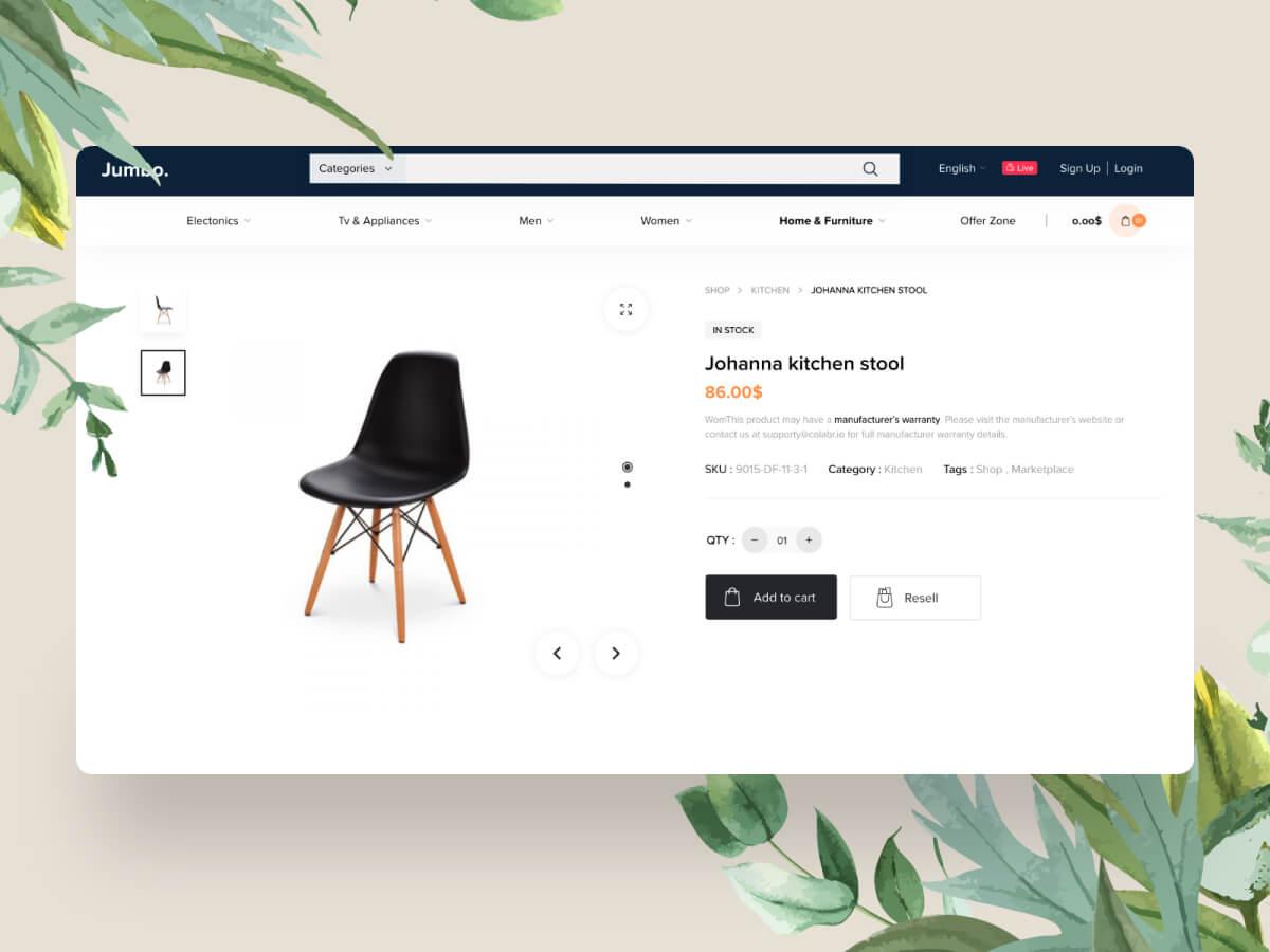 Simple E-Commerce Web Adobe XD UI Kit