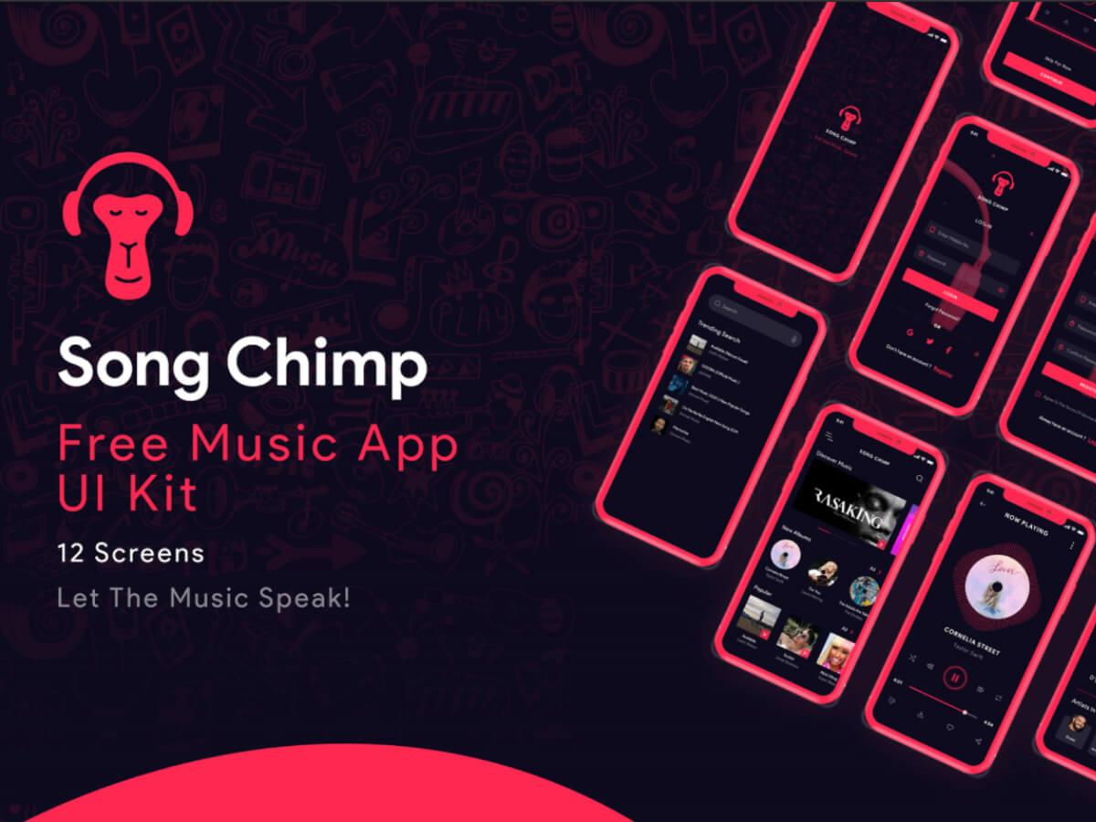 Song Chimp - Free Music App for Adobe XD