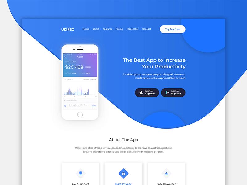 UIXREX App Landing